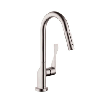 Hansgrohe 39836801 Axor Citterio Prep Single Handle Pull Down Kitchen Faucet - Steel Optik