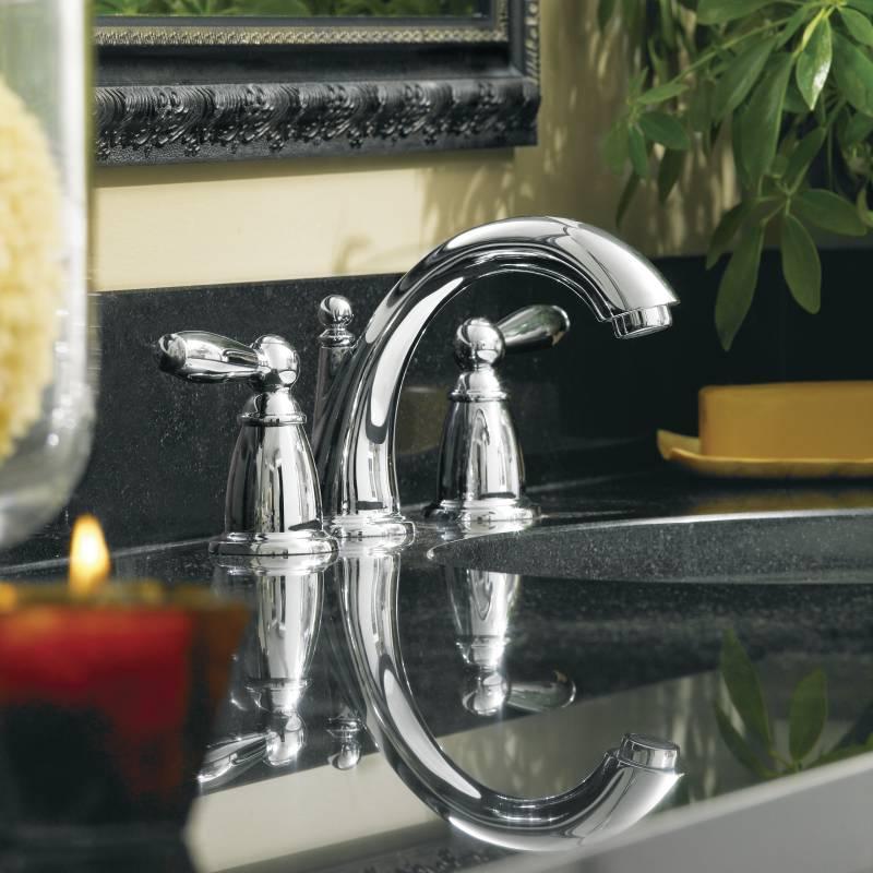 Moen T6620 Brantford Two Handle Widespread Lavatory Faucet Trim Chrome Faucetdepot Com